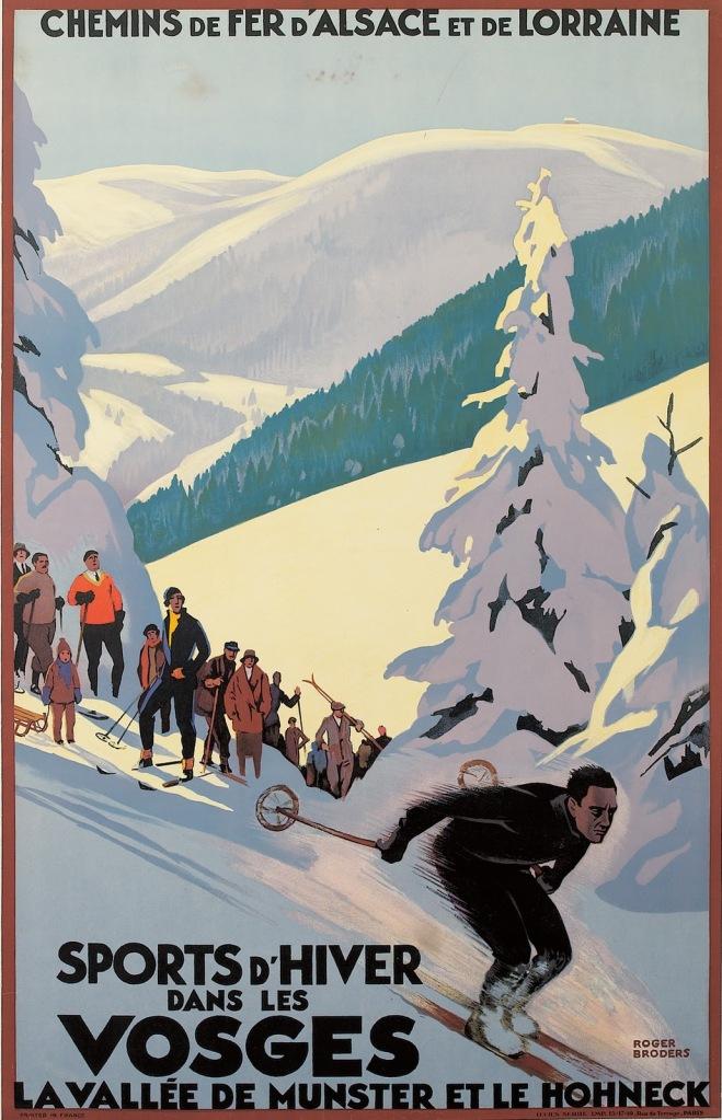 ardecotravelpostersSports-D'Hiver-Dans-Les-Vosges-1930