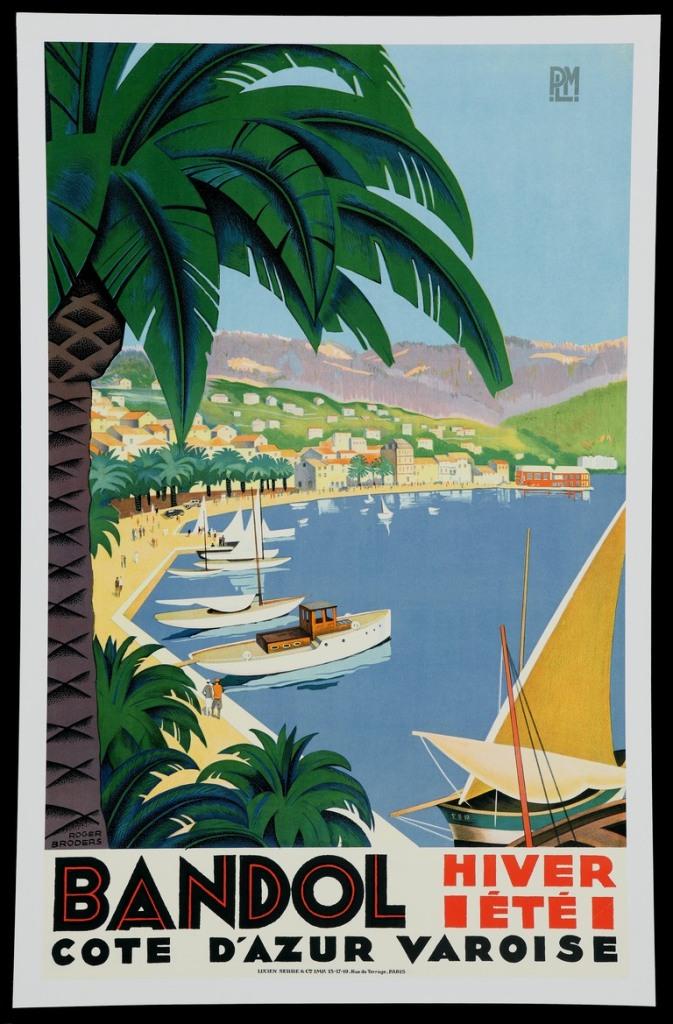artdecotravelpostersBandol-resort-poster-by-Roger-Broders-1932