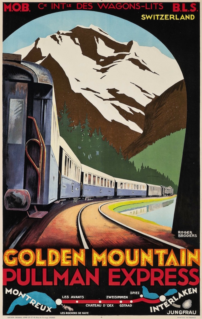 artdecotravelpostersGOLDEN-MOUNTAIN-PULLMAN-EXPRESS-lithograph-in-colours-c.1930-copy