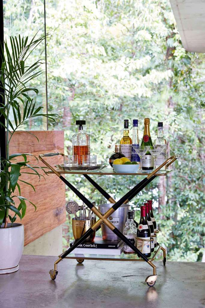 Details: the bar cart at Planchonella House