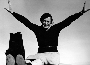 Dorothea Lange by Rondal Partrige