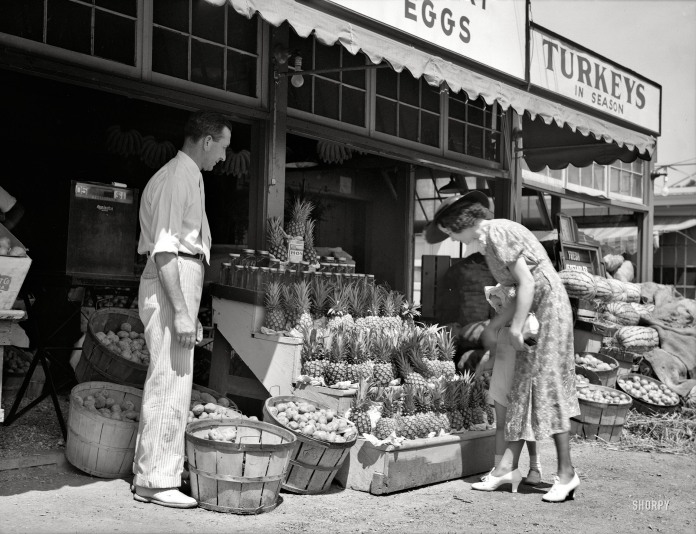 """June 1936. """"Center Market - Washington, D.C."""""""